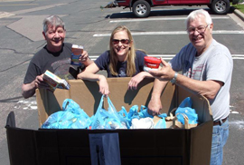 Mail Carriers Food Drive