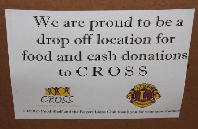 Rogers Lions Food Drive