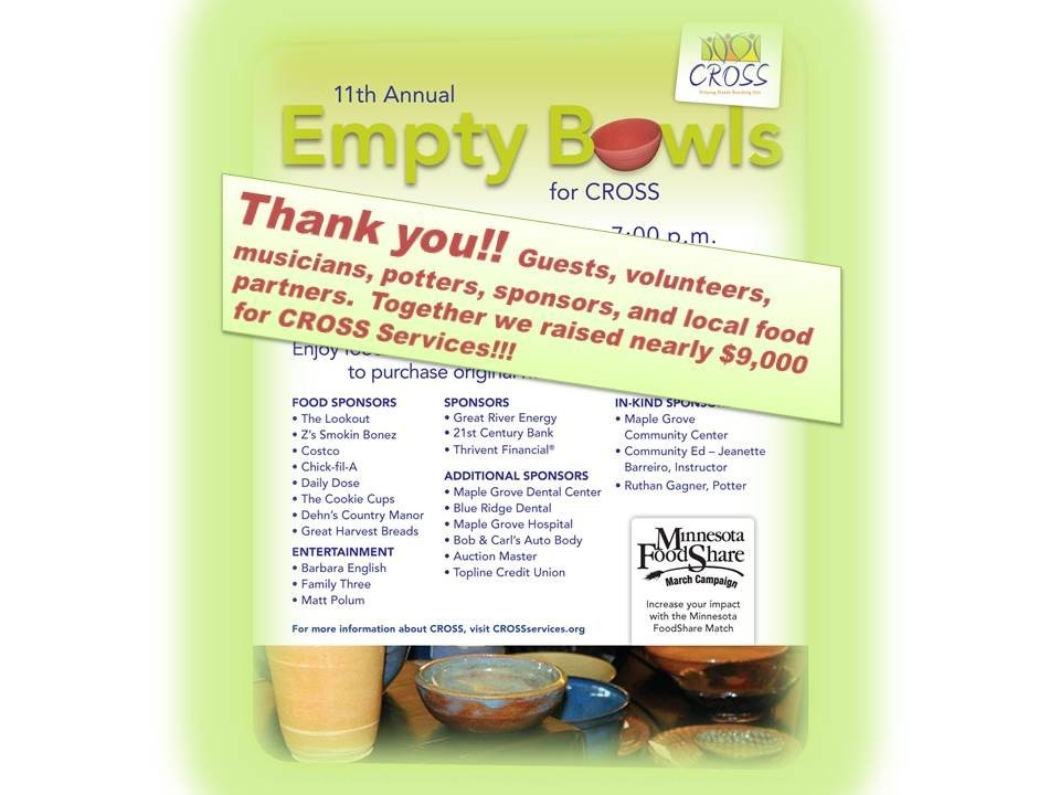 Empty Bowls Thanks 2016