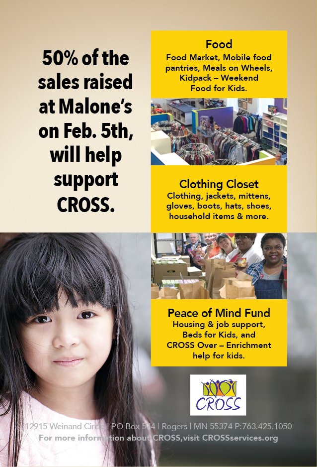 February 5, 2018 Malone's 50% of Sales to CROSS